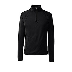 Lands' End - Black sport fleece half-zip pullover