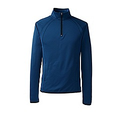 Lands' End - Blue sport fleece half-zip pullover