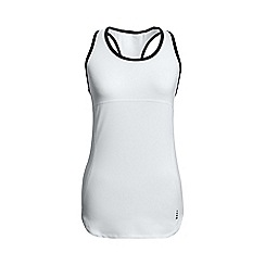 Lands' End - White leisure sport speed running vest top