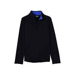 Lands' End - Boys' black long sleeve active half zip top