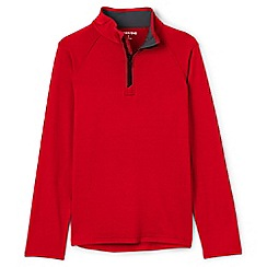 Lands' End - Boys' red long sleeve active half zip top