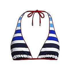 Lands' End - Blue stripe triangle bikini top