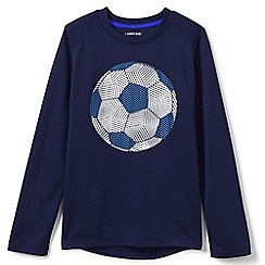Lands' End - Boys' blue long sleeve active graphic tee