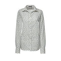Lands' End - Green regular supima patterned tailored non-iron shirt