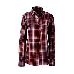 Lands' End - Red regular supima patterned tailored non-iron shirt