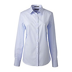 Lands' End - Blue regular supima tailored non iron shirt