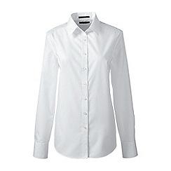 Lands' End - White regular supima tailored non iron shirt