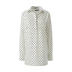 Lands' End - Cream regular patterned supima non-iron tunic