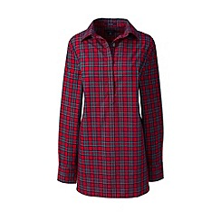 Lands' End - Red regular patterned supima non-iron tunic
