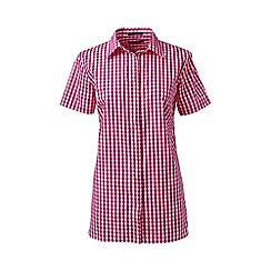 Lands' End - Pink regular patterned short sleeved non-iron shirt