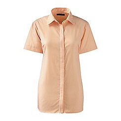 Lands' End - Orange regular patterned short sleeved non-iron shirt