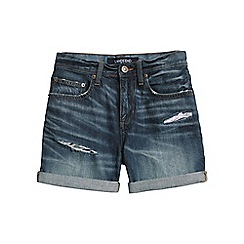 Lands' End - Blue distressed denim shorts