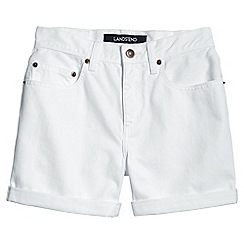 Lands' End - White white denim shorts