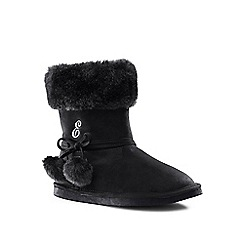 Lands' End - Black cosy boots