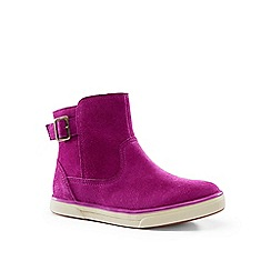 Lands' End - Purple suede ankle boots