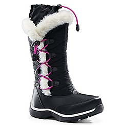 Lands' End - Black snowflake boots