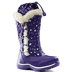 Lands' End - Purple snowflake boots