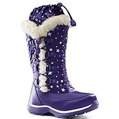 Lands' End - Purple snowflake boots