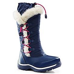 Lands' End - Blue snowflake boots