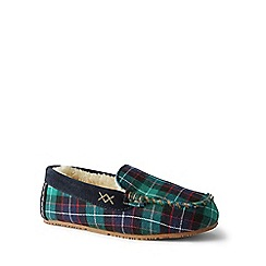 Lands' End - Multi suede moccasin slippers
