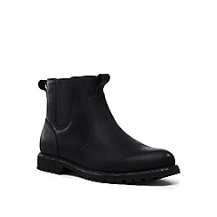 Lands' End - Black rugged chelsea boots