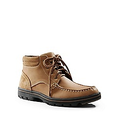 Lands' End - Beige lightweight comfort lace-up boots