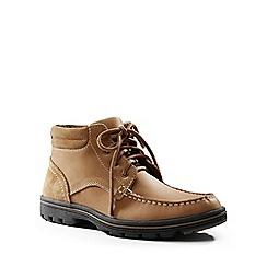 Lands' End - Beige lightweight comfort lace-up boots