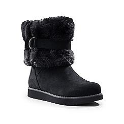 Lands' End - Black plush suede boots