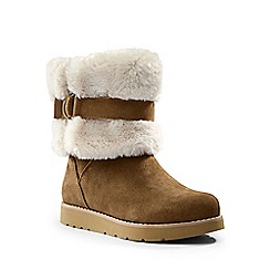 Lands' End - Brown plush suede boots