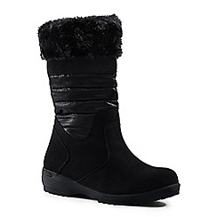 Lands' End - Black pull-on winter boots