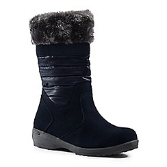 Lands' End - Blue pull-on winter boots