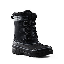 Lands' End - Black hillary short winter boots