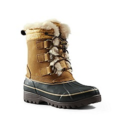Lands' End - Beige hillary short winter boots