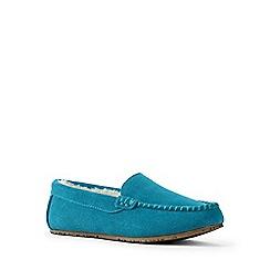 Lands' End - Blue moccasin slippers