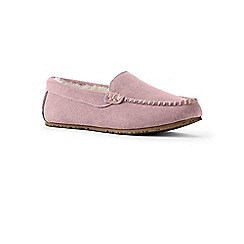 Lands' End - Pink moccasin slippers