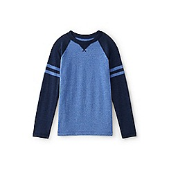 Lands' End - Blue boys' textured colourblock tee