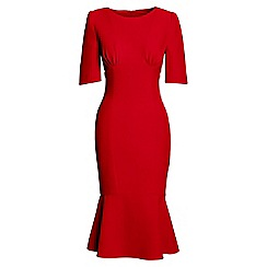 Lands' End - Red ruched bodice dress