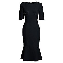 Lands' End - Black ruched bodice dress