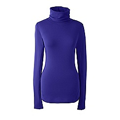 Lands' End - Purple thermaskin heat natural roll neck top