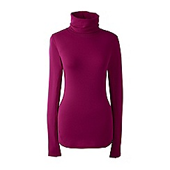 Lands' End - Red thermaskin heat natural roll neck
