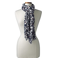 Lands' End - Black star print scarf