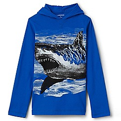 Lands' End - Blue boys' graphic hoodie