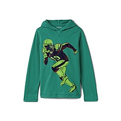 Lands' End - Green boys' novelty graphic hoodie