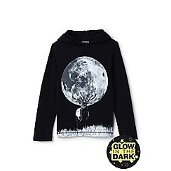 Lands' End - Black boys' novelty graphic hoodie