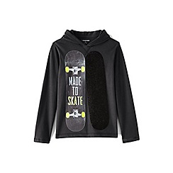 Lands' End - Grey boys' novelty graphic hoodie