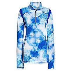 Lands' End - Blue patterned leisure sport speed half zip jacket