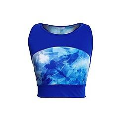 Lands' End - Blue leisure patterned sport speed long bra