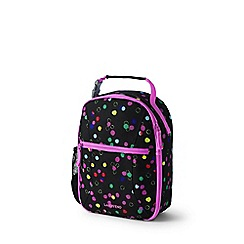 Lands' End - Black print classmate soft side lunch box
