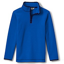 Lands' End - Blue boys' thermacheck 100 fleece pullover
