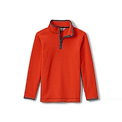 Lands' End - Orange boys' thermacheck 100 fleece pullover